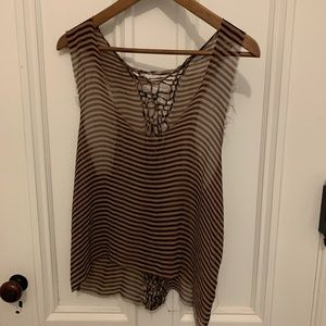 Women's Raquel Allegra sheer striped tank